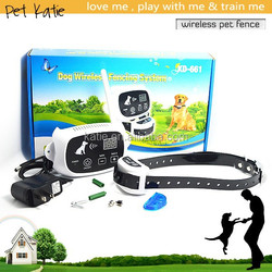 Patent Design Dog Training Wireless Pet Outdoor Fence with Shock Collar