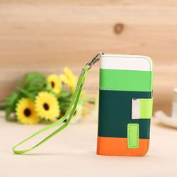 Low price china mobile phone Mix Color Leather Stand Flip Case with Card Slots leather case for iphone6 china price