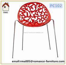 2015 modern new plastic chair PC102