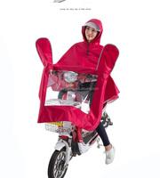 100% Waterproof Motor Bike Polyester Transparent Brim Raincoat Unisex Adult Riding Rain Coat Rain Poncho