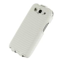 Elegant Vertical flip Genuine Leather white Phone Case for Samsung Galaxy S3 9300 I9300