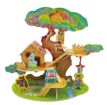 Forest Cabin Series Tree House DIY 3D Wood House Puzzle