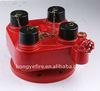 4 way breeching Inlet fire hydrant