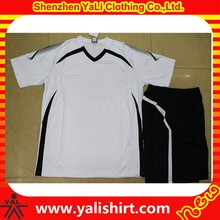 Custom top quality comfortable cool dry mix size polyester plain soccer uniform design
