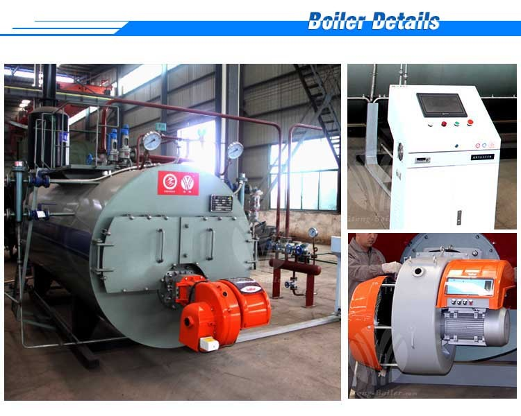 intelligent digital control oil fired steam Intelligent digital control oil gas steam boiler wns series 05-20tons/h plc intelligent control natural gas fired steam boiler price.