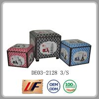 Home Decoration Storage Trunks Custom Fit Wooden Box Case