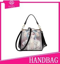 2015 new leather handbag European and American fashion new handbag