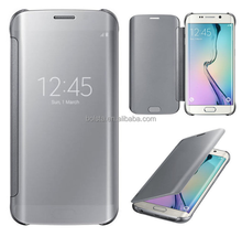 2015 new arrival smart flip cover Mirror case for samsung galaxy s6 edge mirror phone case