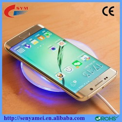 2015 Circular Mobile Phone Original Wireless Charger For Samsung S6 S6 Edge