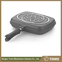 New Design 28cm Aluminum nonstick double fry pan aluminum frying pan double sided