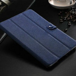 2015 China Best New soft Cheap hot selling stand cross line lether case custom leather rotation case for ipad mini