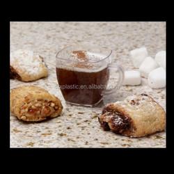 Square Mini Espresso Plastic Mugs Coffee Tea 2 oz cube clear tasting Dessert Shot Glasses Cups for sale factory
