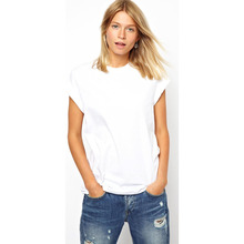 women white tshirt with short sleeves for wholesale