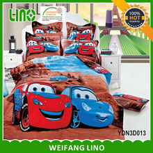 kids plush sleeping bag/bed sheets and cushion covers