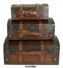 Retro Vintage Decorative Storage Wooden Suitcases