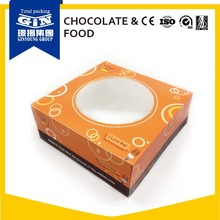 Customized paper square cheese cake box wholesale with window