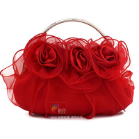 2014 Hot Sale And Popular Bud Silk Material Evening Clutch Bag Import China Goods