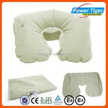 pvc flocking air neck pillow inflatable children pillow
