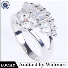 fashion jewelry wholesale wedding ring newest diamond silver ring