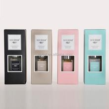 handmake simple designed matte lamination perfume paper box with PVC window