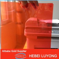 red color window glass decorative PET film