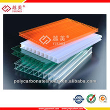 6mm 8mm 10mm Multilayer/multiwall Polycarbonate Sheeting,plastic building material for agricultural greenhouse