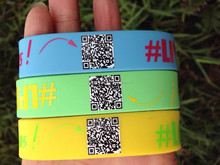 Hand made cheap high quality unique qr code silicone hand bands, Shopping online websites Silicone Wristband Making Supplier