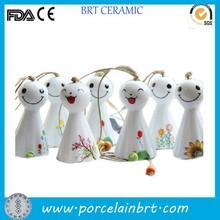Sunny dolls white custom smile cute ceramic Wind Bells
