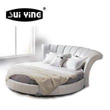 C003 high quality modern comfortable round shape bed