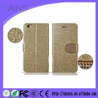 Hot selling Luxury Luminous Powder Glitter Wallet Bling Case For Apple iPhone 5C