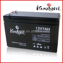 Small size sealed lead acid battery homemade mowers battery 12V7Ah