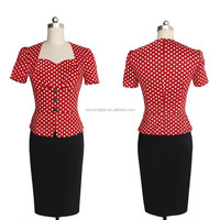 2015 Instyles high quality office dress red cap sleeve v-neck bodycon dress china sex movies new design sexy women dress