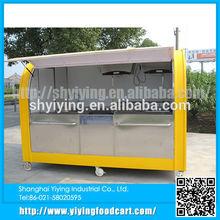 Yy-fs290a comida rápida cocina móvil de la motocicleta carrito de comida