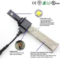 Newest fanless LED headlight 2500LM H1 H3 880 881 H4 H7 h8 h9 h11 9005 9006 9004 9007 p13w psx24 5202 psx26 for led car light