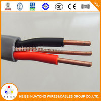 Good quality 450/750V 6mm 6242y pvc insulated and sheathed twin and earth electrical wire flexible flat cable