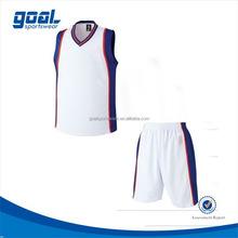 Good quality digital printing high school basketball uniform/jersey