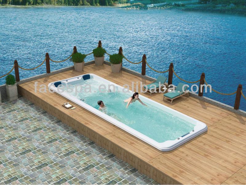 8 meter fiberglass swim whirlpool with massage lying seat for Fiberglass drop in pools prices