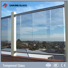 Clear deck railings tempered glass