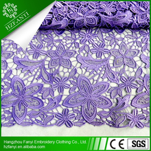 2015 FLOWER PATTERN african guipure lace fabric new style in lace Embroidered for party Christmas thanksgiving FY3049