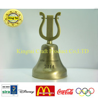 New products bronzed christmas dinner bell