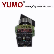 YUMO LAY5-BJ33 long handle push button 3 position stay put or spring return miniaturized push button switch
