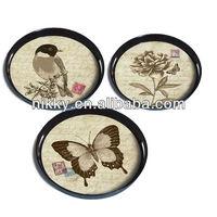 Decoration mini plate sets&Round plate holder wood