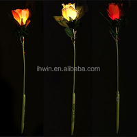 decoration fabric light up artificial flowers
