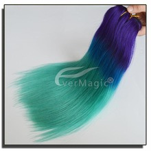 three tone colored Brazilian human hair weft comfortable feeling thick bottom human hair extension