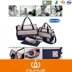 25 years factory experience cheap price 5 pcs diaper bag for mummy bag promotion