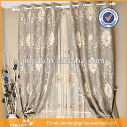 M2583 european curtain designs 100% poly jacquard curtain fabric roman shades from China textile city
