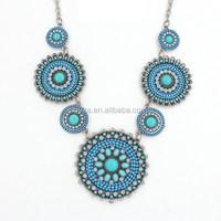 Tribal Boho Acrylic Beads Flower Necklace