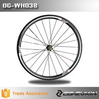 38mm Carbon 23mm Rim 3K Tubular 20/24 spokes Flat Areo Spoke Road Bike Wheelset