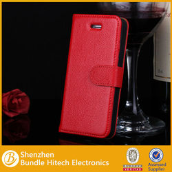 for Apple iPhone 5 Stand Leather Case with wallet card slot