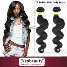 Neobeauty dark brown indian remy hair italian yaki